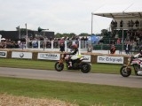 2016 Goodwood Festival Of Speed Keanu Reeves riding The American hand made motorcycle