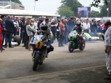 250 cc and  500cc World Champion Freddie Spencer followed by TT rider  Kawasaki 2016 Goodwood Festival of Speed