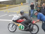 Hailwood Honda RC166 297cc 6 cylinder riden By Steve Plater Isle of man Parade