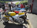 Spa francorchamps Bikers Classic Steve Plater, Freddie Sheene  Wil Hartog and Scott Reading